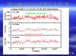 xis light curves of mcg 5 23 16