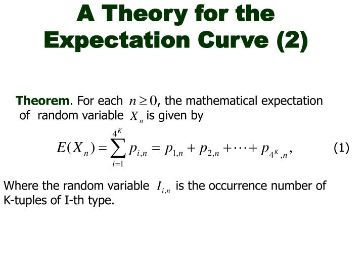 A Theory for the Expectation Curve (2)
