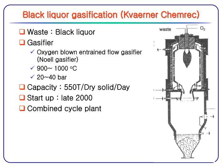 Black liquor gasification (Kvaerner Chemrec)