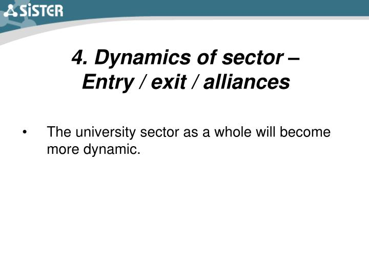 4. Dynamics of sector –