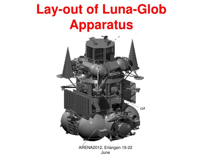 Lay-out of Luna-Glob Apparatus