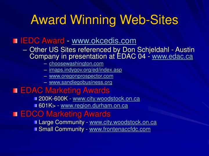 Award Winning Web-Sites