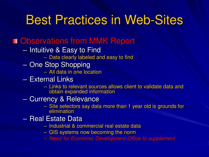 Best Practices in Web-Sites