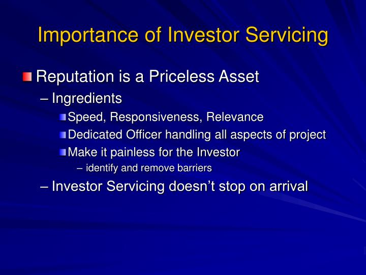 Importance of Investor Servicing