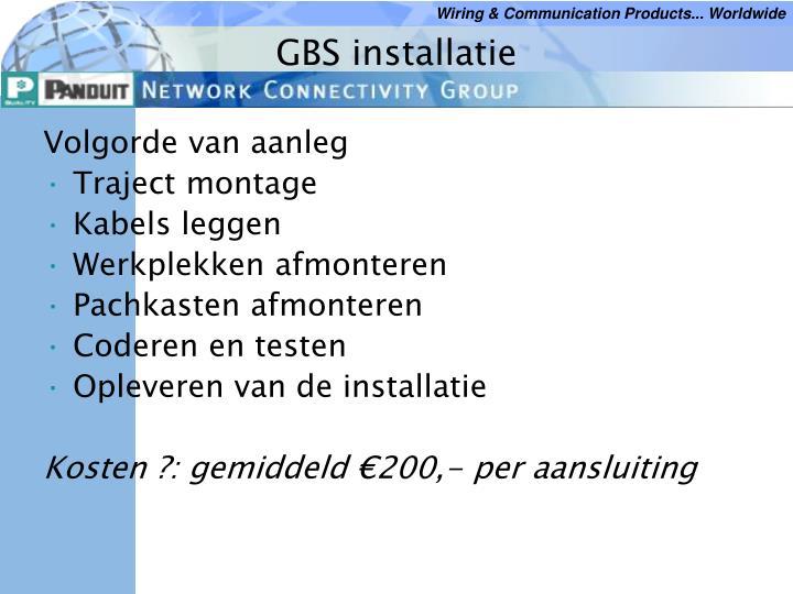 GBS installatie