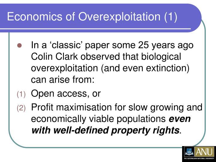 Economics of Overexploitation (1)