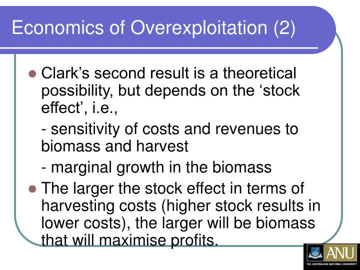 Economics of Overexploitation (2)