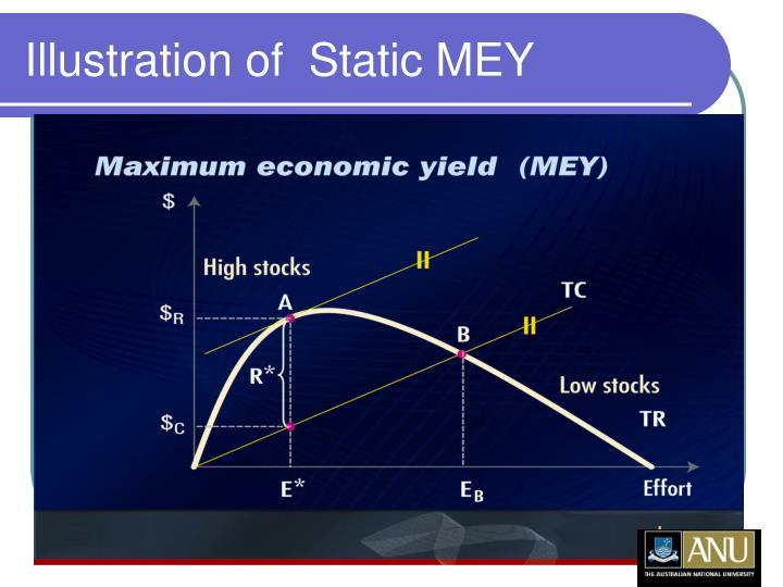 Illustration of  Static MEY