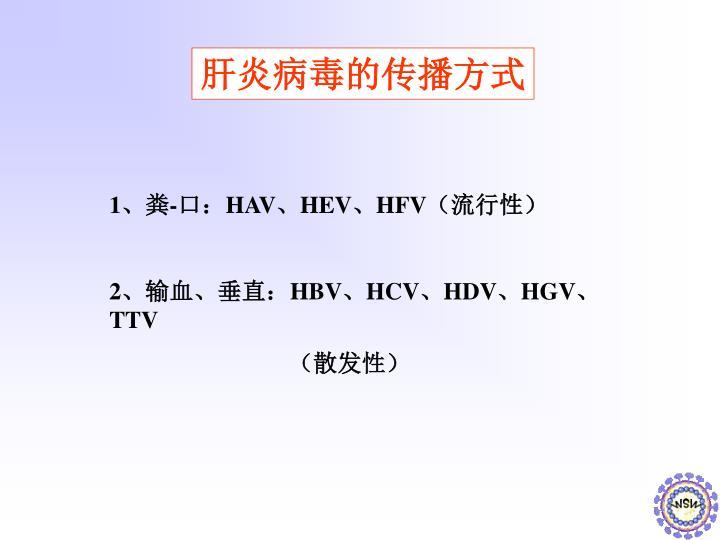肝炎病毒的传播方式