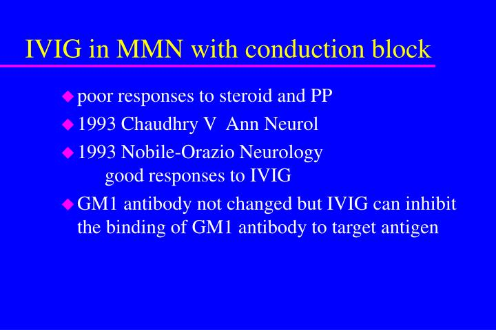IVIG in MMN with conduction block