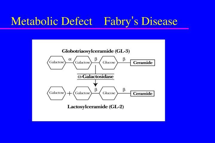 Metabolic Defect    Fabry