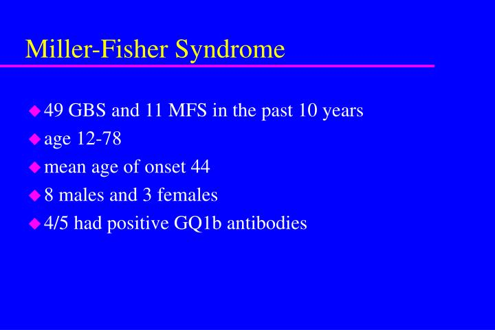 Miller-Fisher Syndrome