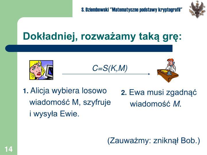 """S. Dziembowski """"Matematyczne podstawy kryptografii"""""""