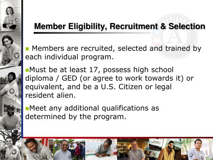 Member Eligibility, Recruitment & Selection