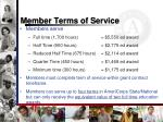 member terms of service