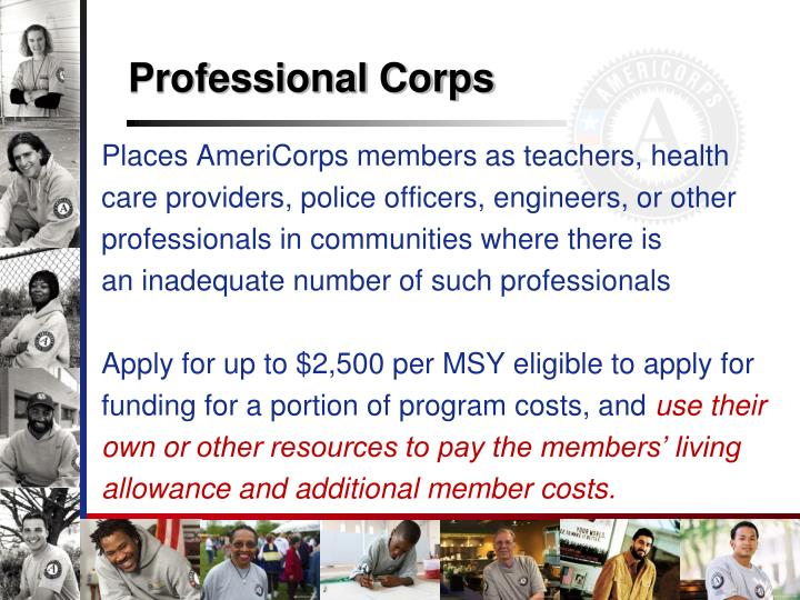 Professional Corps