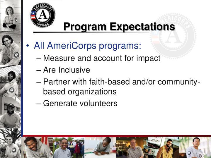 Program Expectations
