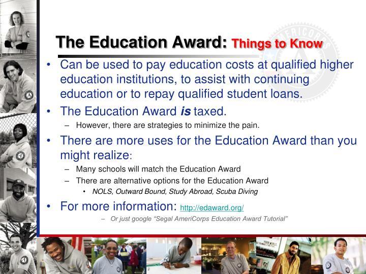 The Education Award: