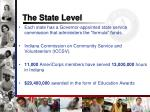 the state level