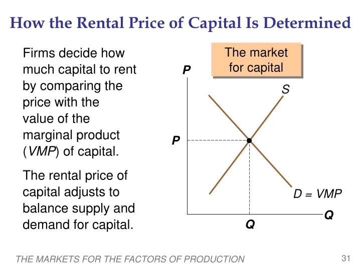How the Rental Price of Capital Is Determined