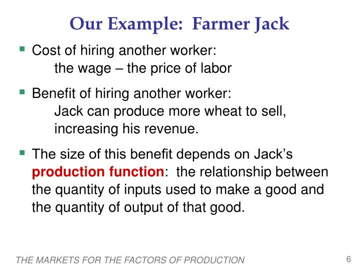 Our Example:  Farmer Jack
