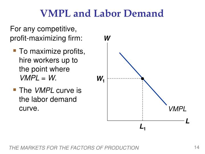 VMPL and Labor Demand