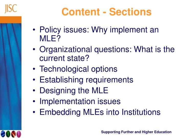 Content - Sections
