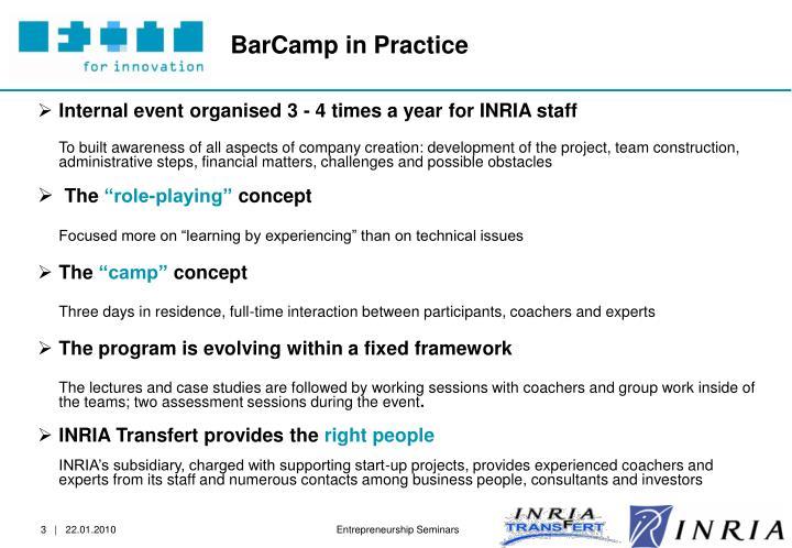 BarCamp in Practice