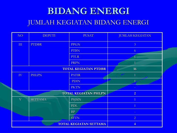 BIDANG ENERGI