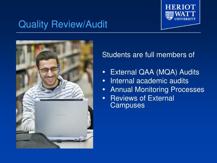 Quality Review/Audit
