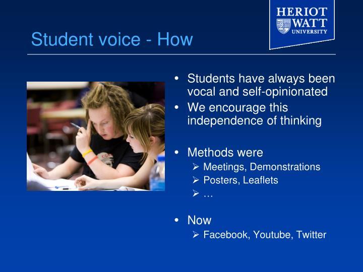 Student voice - How
