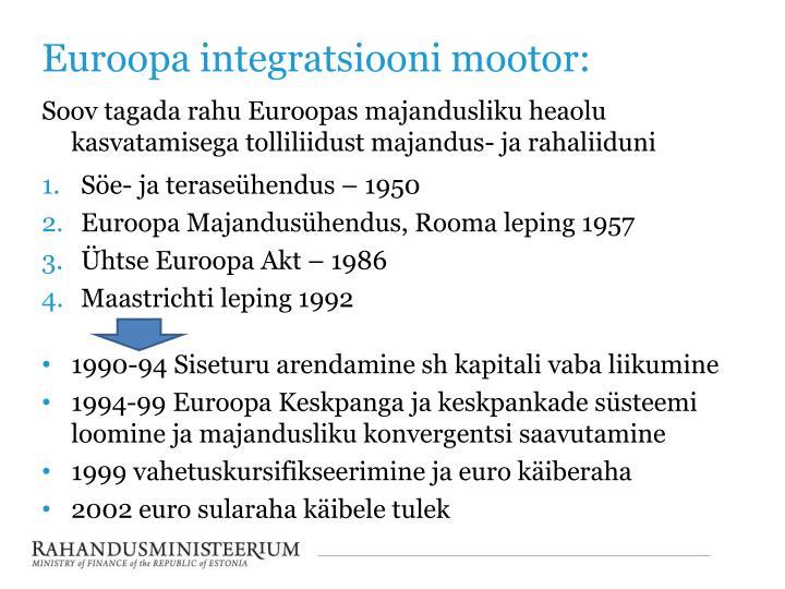 Euroopa integratsiooni mootor: