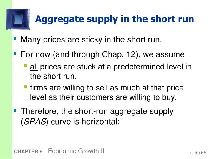 Aggregate supply in the short run