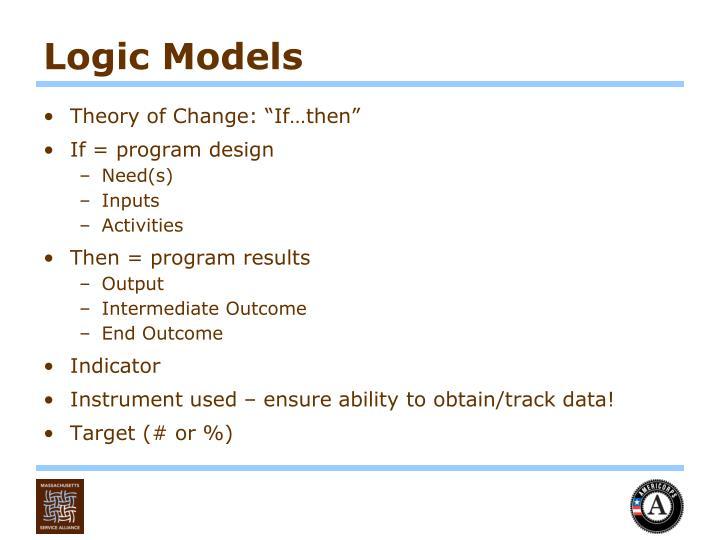 Logic Models