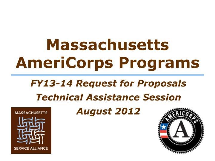 Massachusetts AmeriCorps Programs