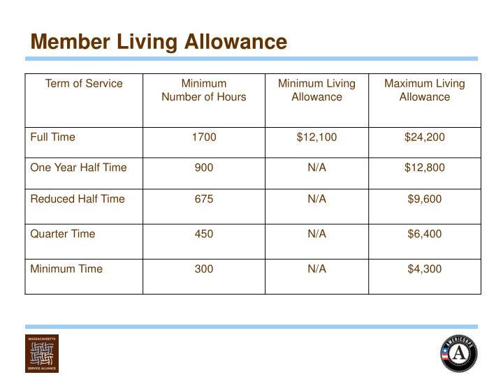 Member Living Allowance