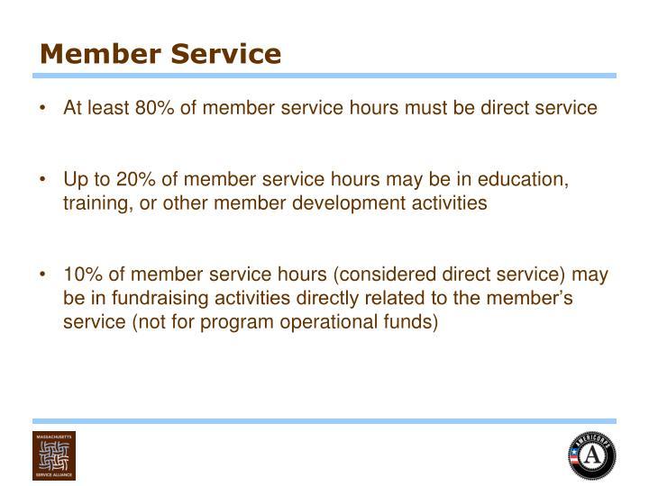 Member Service