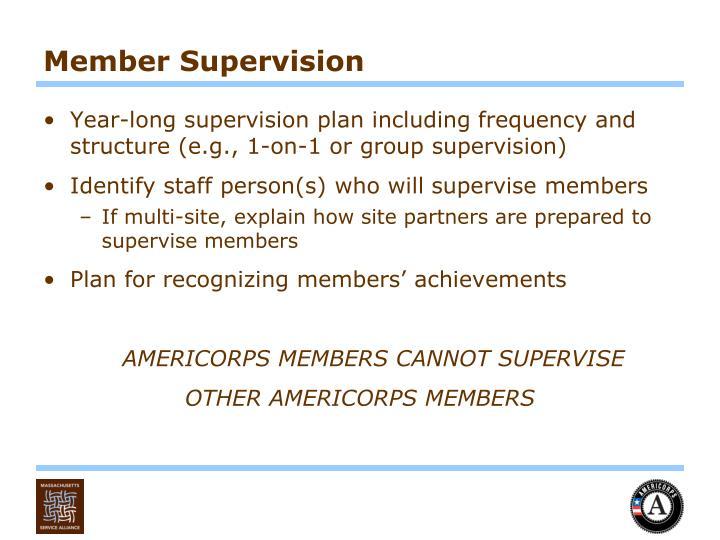 Member Supervision