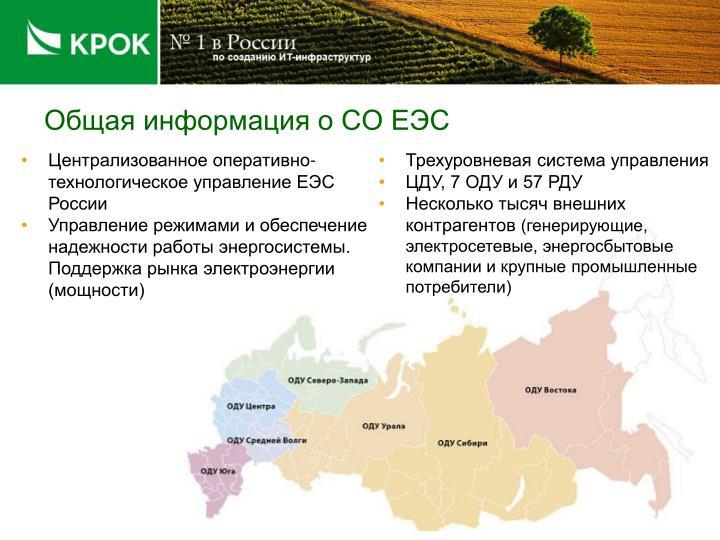 Общая информация о СО ЕЭС