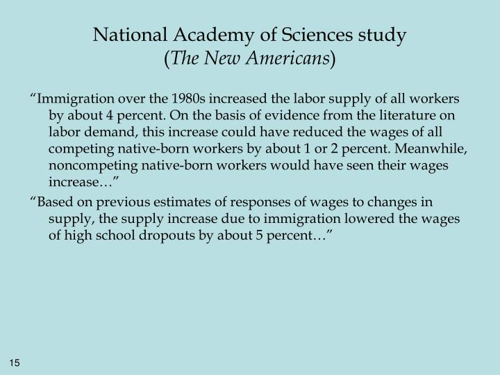 National Academy of Sciences study