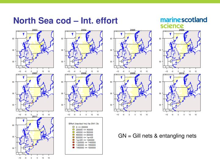 North Sea cod – Int. effort