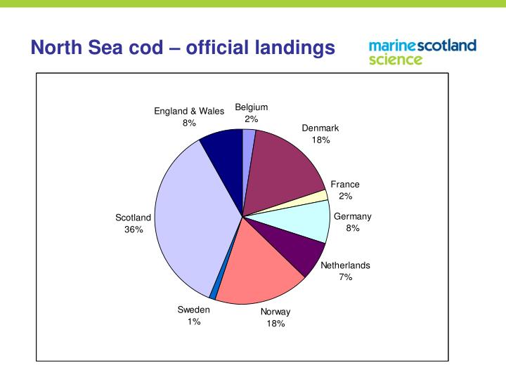 North Sea cod – official landings