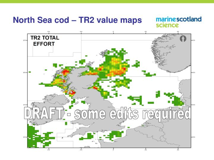 North Sea cod – TR2 value maps