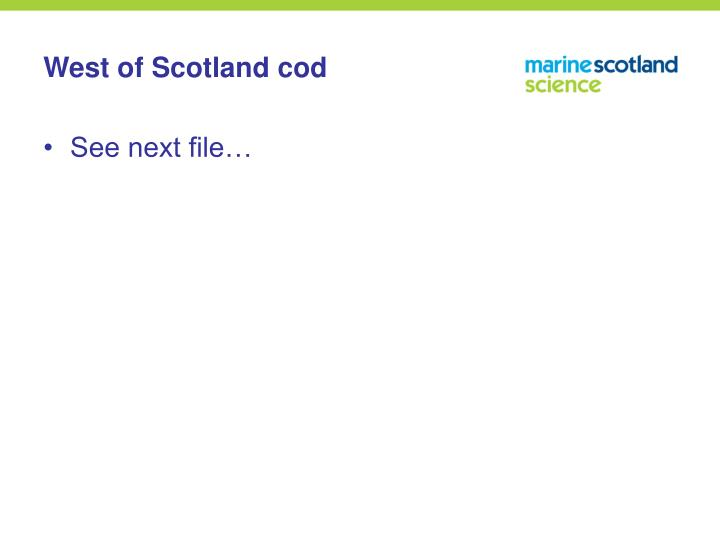 West of Scotland cod