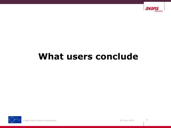 What users conclude