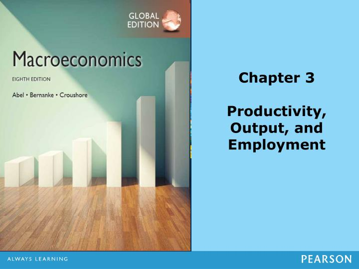 chapter 3 productivity output and employment