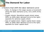 the demand for labor5