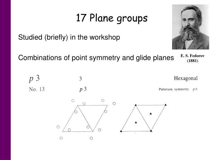 17 Plane groups