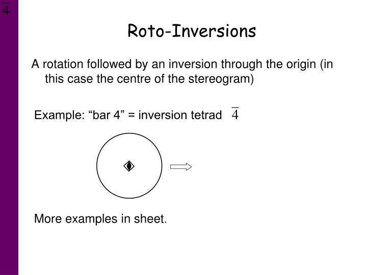 Roto-Inversions