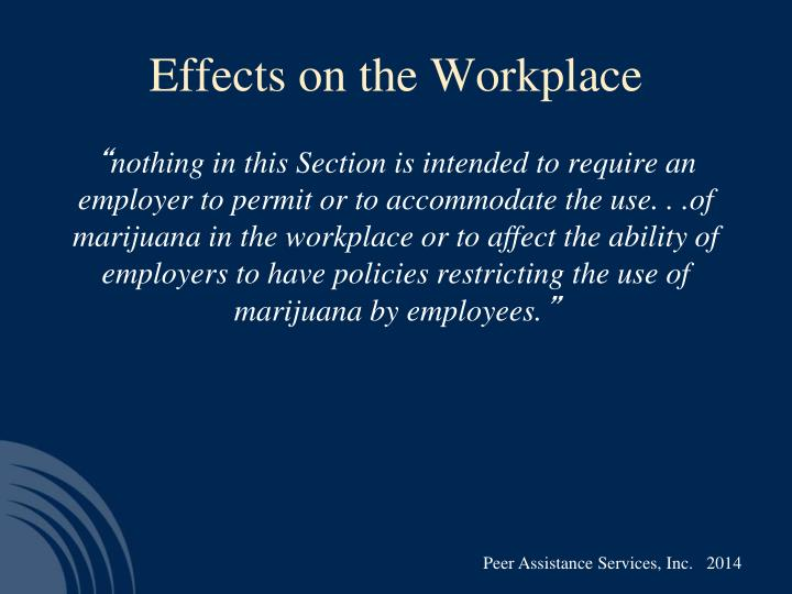Effects on the Workplace